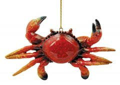Glossy Resin Ornament - Red Crab