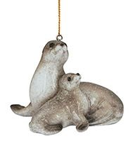 Glossy Resin Ornament - Baby Seal