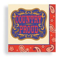 Beverage Napkin 24 ct Country Proud
