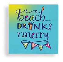 Beverage Napkin - Beach Drink & Be Merry II