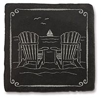 Slate Coaster - Adirondack Chairs