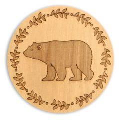 Wood Coaster - Bear