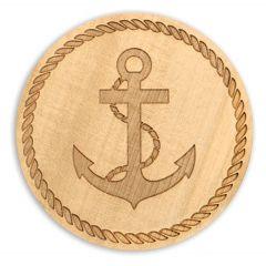 Wood Coaster - Anchor