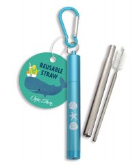 Collapsible Straw with Case - Shells