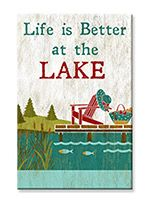 Souvenir Magnet - Life is Better at the Lake