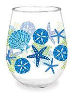 Wine Tumbler - Beach Batik