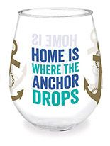 Wine Tumbler - Anchor Drops