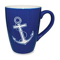 Etched Mug - Nautical Chic Anchor