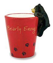 Ceramic Novelty Shot Glass - Bearly Enough