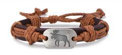 Leather Bracelet - Moose