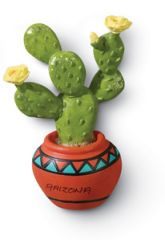 Resin Magnet - Prickly Pear Cactus
