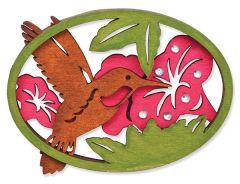 Laser Cut Wood Magnet - Hummingbirds
