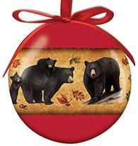 Ball Ornament - Bear Collage