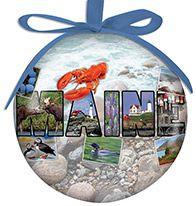 Ball Ornament - Maine Photo Collage