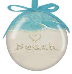 Ball Ornament - <3 BEACH
