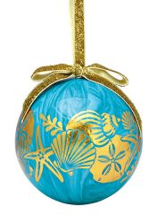 Ball Ornament - Gold Shells