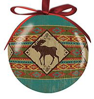 Ball Ornament - Camp Blankets Moose