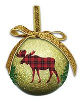 Ball Ornament - Rustic Chic Moose