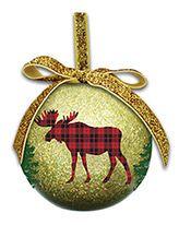 Ball Ornament - Rustic Chic Moose