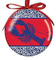 Ball Ornament - Coastal Color Lobster