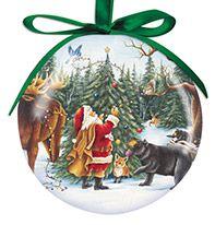 Ball Ornament - Santa with Animals