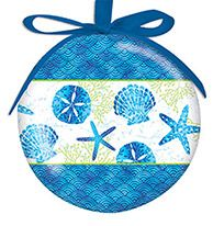Ball Ornament - Beach Batik