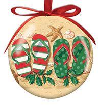 Ball Ornament - Holiday Flip Flops