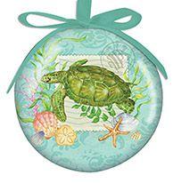 Ball Ornament - Summer Seas Turtle