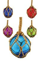 Glass Ornament - Float with Rope Assorted Colors