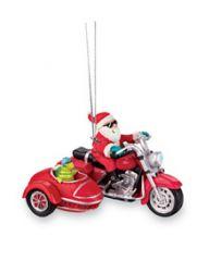 Resin Ornament - Santa & Turtle Biker