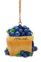 Resin Ornament - Blueberry Basket