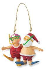 Resin Ornament - Mr & Mrs Claus Snorkeling