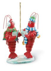Resin Ornament - Caroling Lobsters