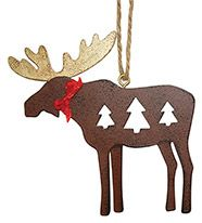 Metal Ornament - Moose