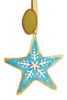 Metal Ornament - Patina Starfish