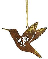 Metal Ornament - Hummingbird