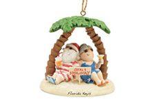 Resin Ornament - Secret Hideaway Santa
