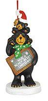 Resin Ornament - Beary Merry Christmas