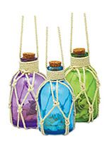 Glass Jar Ornament - Assorted colors with shells