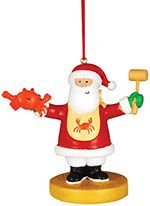 Resin Ornament - Santa with Crab & Mallet