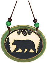 Pottery Disk Ornament - Bear
