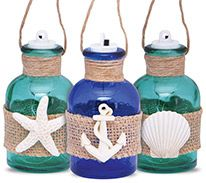 Light-up Glass Jar Ornament (assorted colors/icons)
