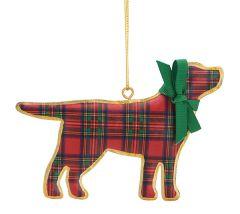 Pillowed Metal Ornament - Dog