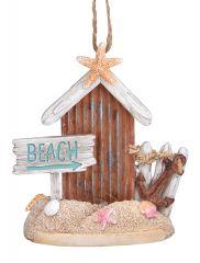 Resin Ornament - Driftwood Beach Scene