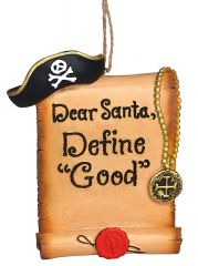Resin Ornament - Pirate Define Good