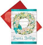 Embellished Christmas Cards - Coastal Wreath