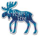 Sticker - Roam Free Moose