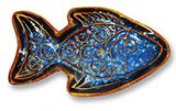 Mini Potter's Dish - Beach Batik Fish