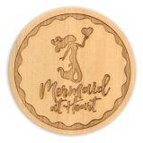 Wood Coaster - Mermaid