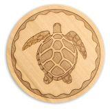 Wood Coaster - Turtle